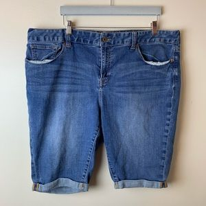 Lucky Brand Ginger Bermuda Cuffed Denim Jean Short